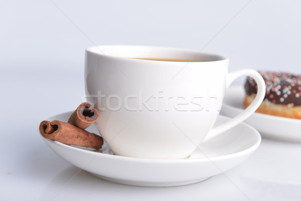 Кубок кофе Sweet пончик шоколадом Сток-фото © taden