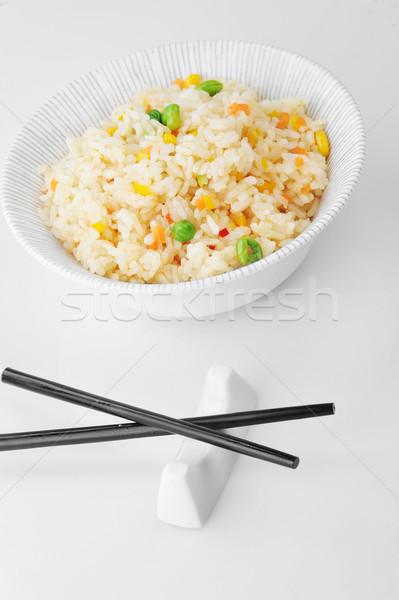 Tál rizs zöldség sült evőpálcika kínai Stock fotó © taden