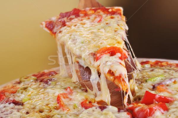 Frescos pizza cena grasa de oliva Foto stock © taden