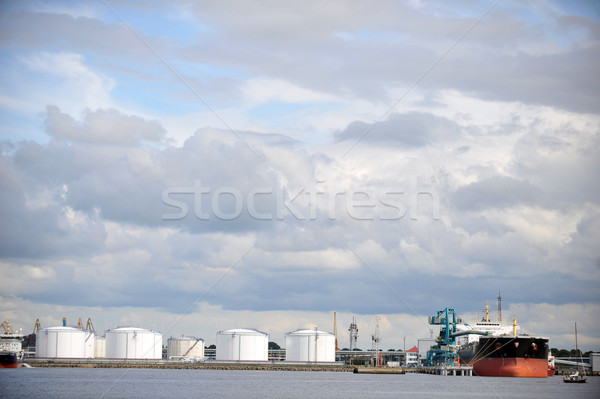 Oil Storage tanks Stock photo © taden