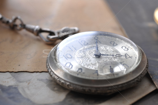 old watch on the grungde post card and photo Stock photo © taden