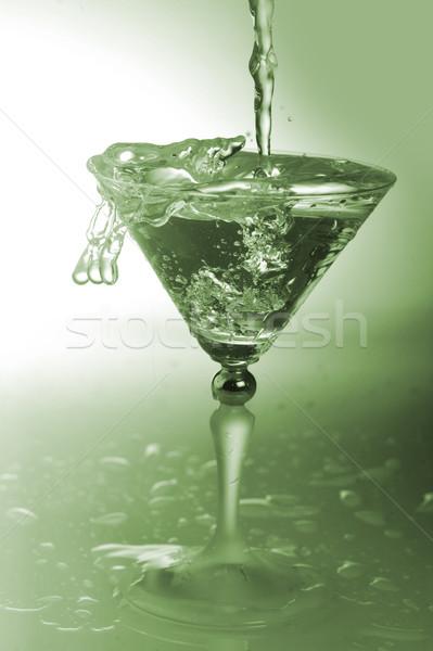 Su cam soğuk şeffaf kokteyl sıçraması Stok fotoğraf © taden