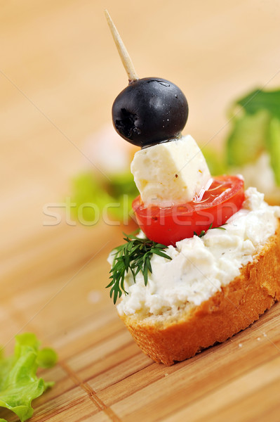 Sandwich tostato pane pomodoro formaggio Foto d'archivio © taden