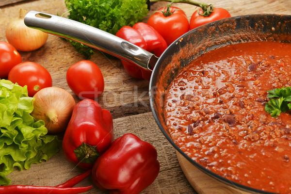 hot chili con Stock photo © taden