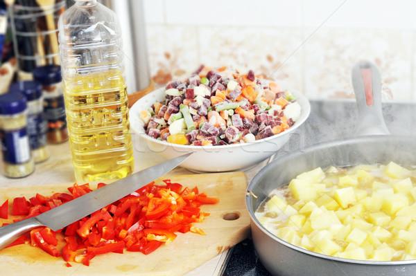 Preparation of  ragout Stock photo © taden