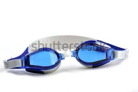 Blu nuotare occhiali isolato bianco luce Foto d'archivio © taden