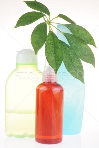 Diferente cosméticos cuerpo sol vidrio Foto stock © taden