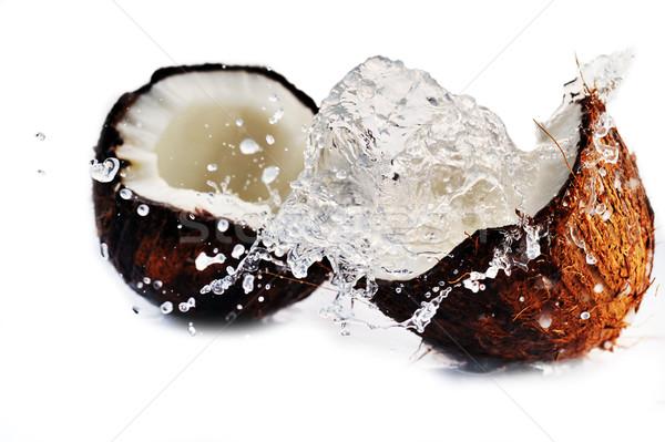cracked coconut splashing Stock photo © taden