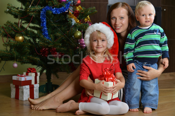 children with mother Stock photo © taden