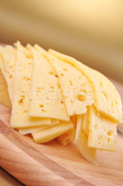 Geel kaas voedsel achtergrond Stockfoto © taden