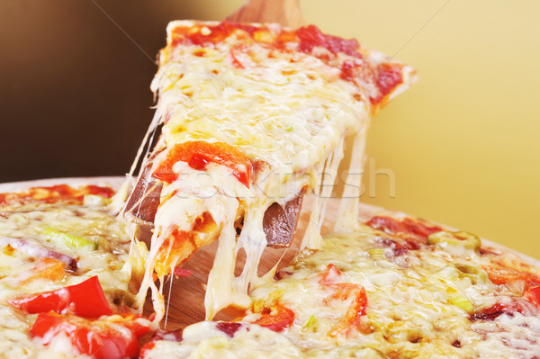 pica slice close up Stock photo © taden