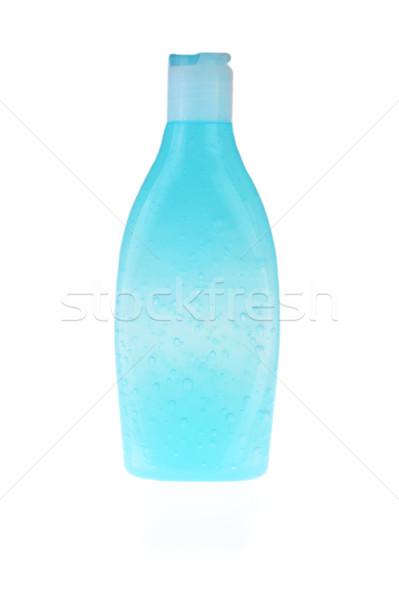 青 ボトル シャンプー 孤立した 白 ファッション ストックフォト © taden