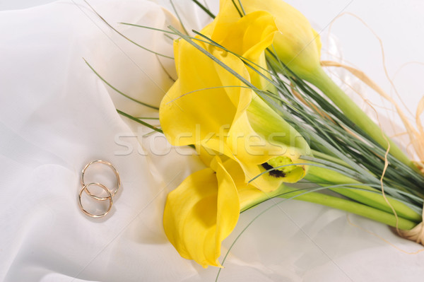 flowers and wedding rings  Stock photo © taden
