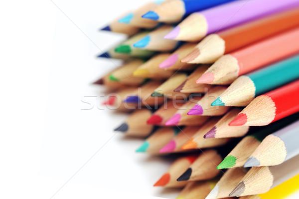 Lápices aislado pluma verde Foto stock © taden