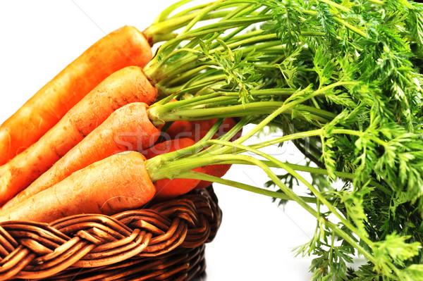 свежие морковь куча морковь листьев корзины Сток-фото © taden