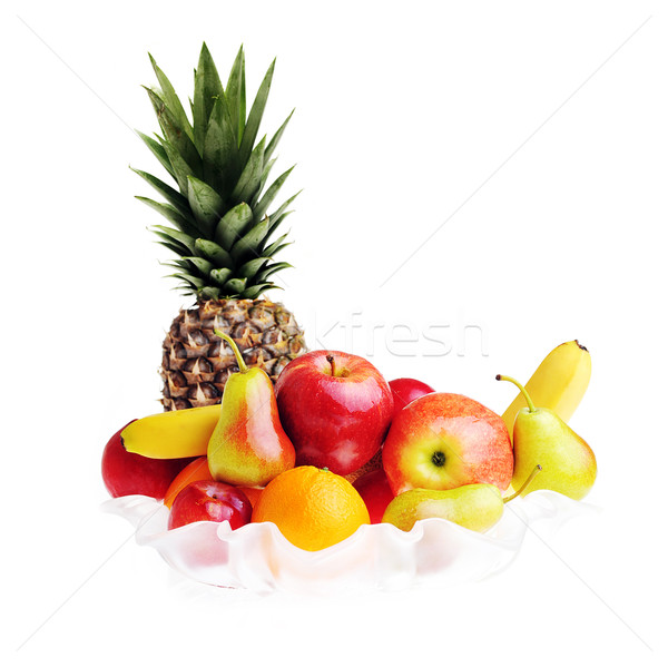 Sabroso frutas completo vidrio jarrón naturaleza Foto stock © taden