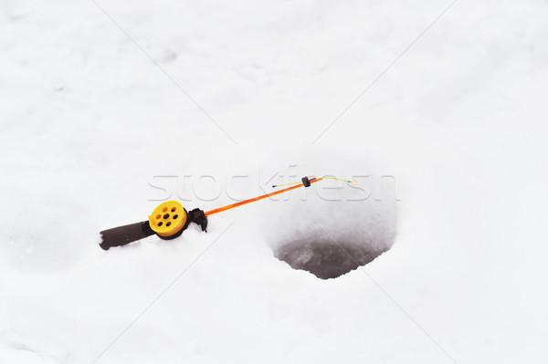 Ice fishing Stock photo © taden