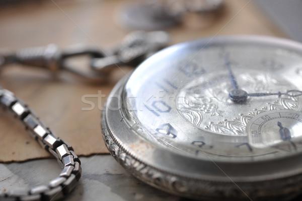 古い 時計 ポスト カード 写真 家族 ストックフォト © taden