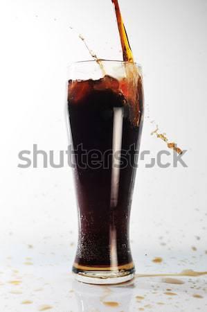 Cola verre santé cool bulle Photo stock © taden