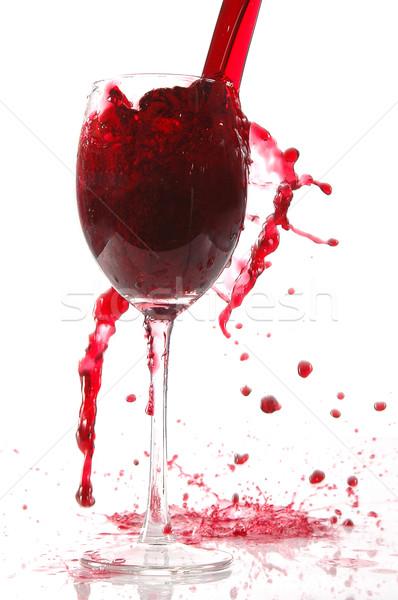 Vino vidrio vino tinto agua bar Foto stock © taden