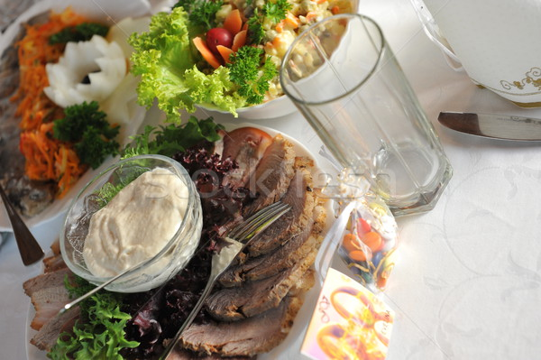 table with food and drink Stock photo © taden