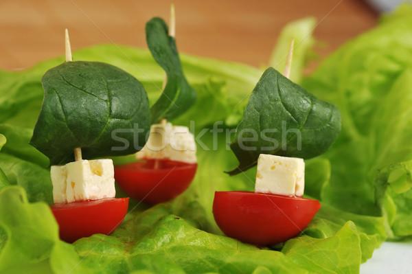 Küçük sandviç lezzetli sebze peynir doğa Stok fotoğraf © taden