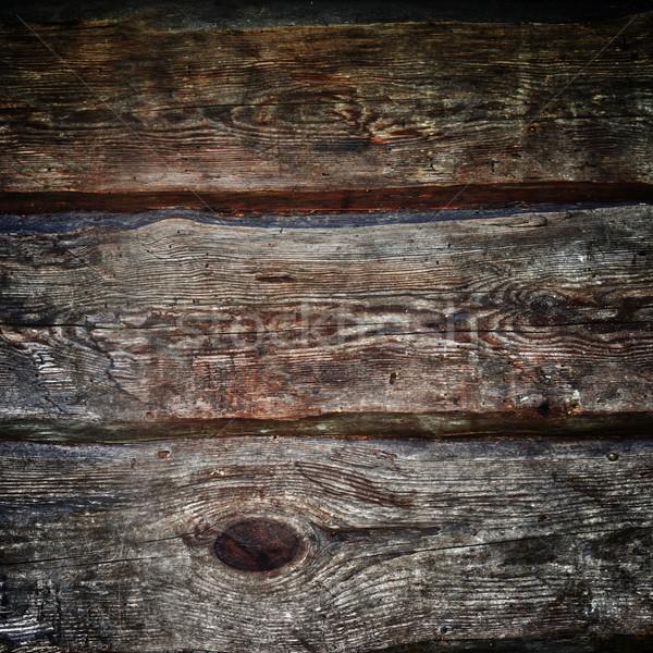 Kahverengi ahşap duvar soyut dizayn Stok fotoğraf © taden