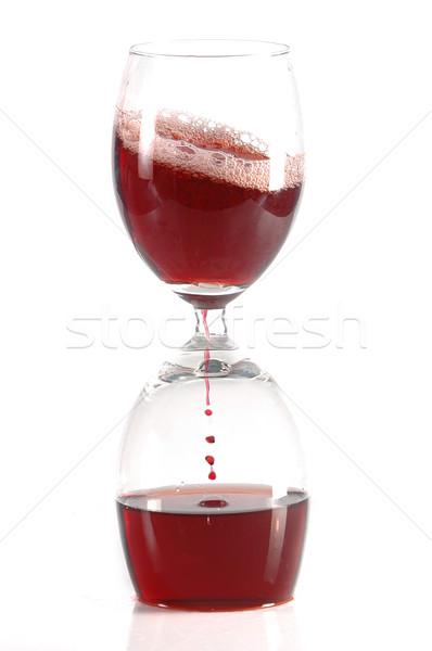 Kum saati iki su cam bar Stok fotoğraf © taden