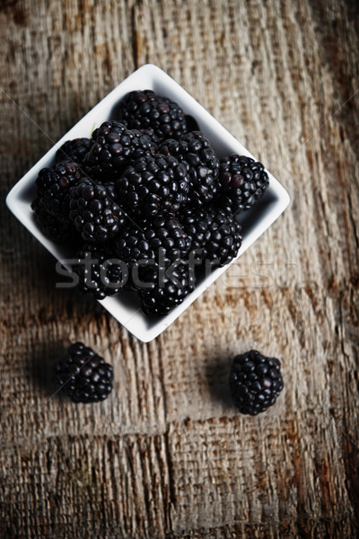 blackberry in bowl Stock photo © taden