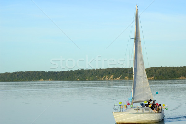 yacht in the lake Stock photo © taden