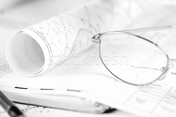 drawings-blueprints Stock photo © taden