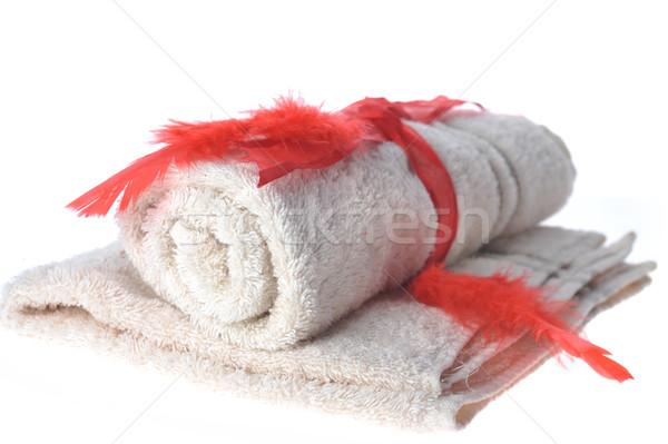 Handdoeken bureaucratie liggen tabel lichaam gezondheid Stockfoto © taden