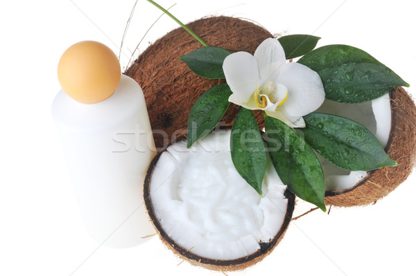 Coconut and massage oil Stock photo © taden