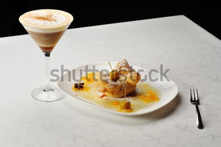cold coffee  and sweet pastry Stock photo © taden