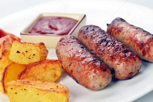 мяса жареное мясо картофель помидоров бизнеса Сток-фото © taden