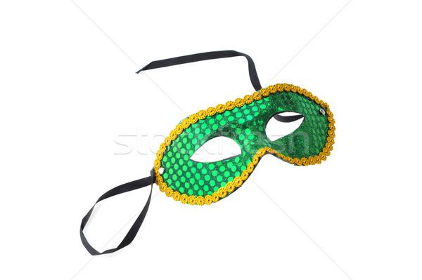 Masque carnaval vert blanche visage art Photo stock © taden