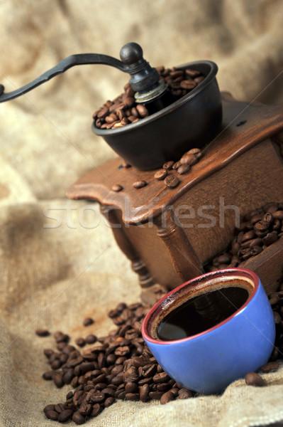 Utasítás kávé daráló klasszikus kávé csésze Stock fotó © taden
