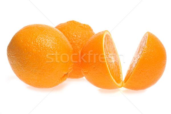 Három narancsok izolált fehér nem leírás Stock fotó © taden