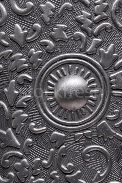 Metal plaka gümüş klasik süs soyut Stok fotoğraf © taden