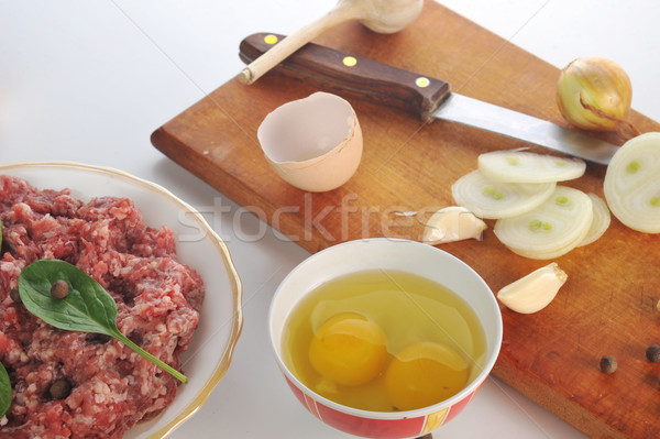Ingredients for cutlet Stock photo © taden