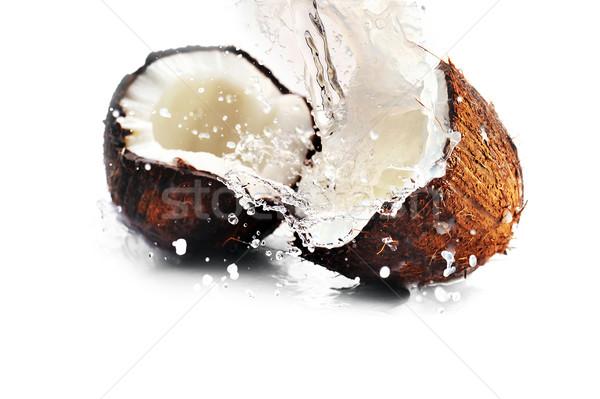 Сток-фото: треснувший · кокосового · всплеск · большой · продовольствие · лет