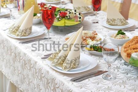 wedding dinner Stock photo © taden