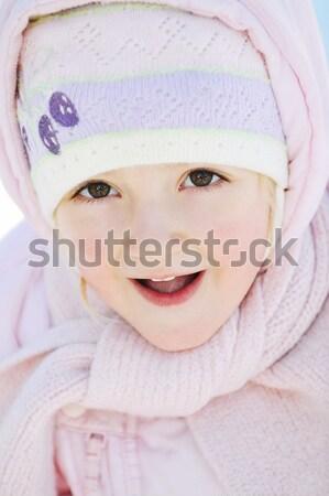 девочку зима ребенка природы снега красоту Сток-фото © taden