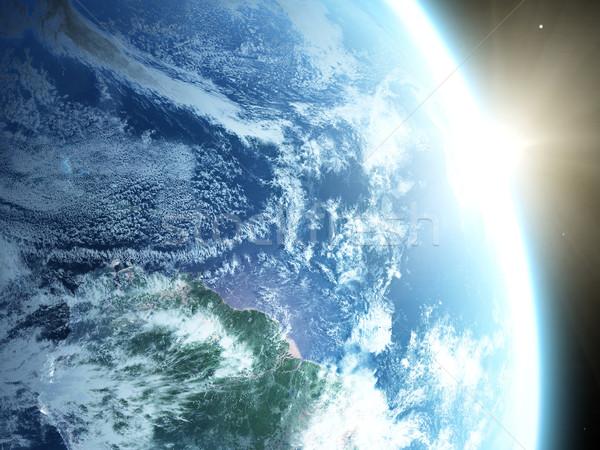 Planeta tierra tierra sol espacio amanecer mundo Foto stock © taden