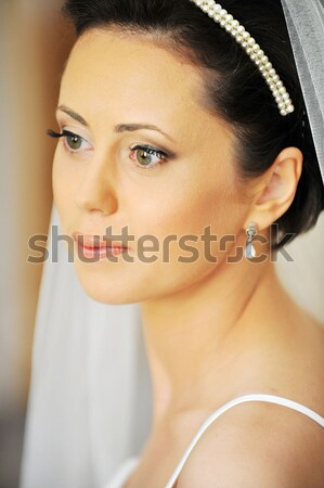 красивой невеста студию портрет свадьба Сток-фото © taden