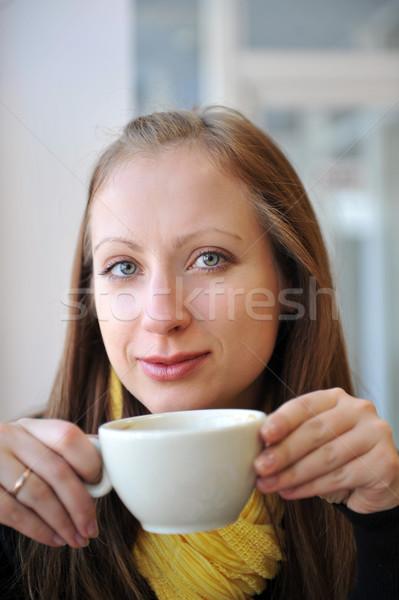 Taza café mirando fuera Foto stock © taden