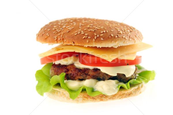 гамбургер овощей таблице группа цвета Сток-фото © taden