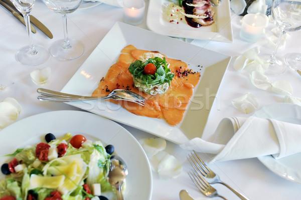 Casamento jantar banquete tabela restaurante óculos Foto stock © taden
