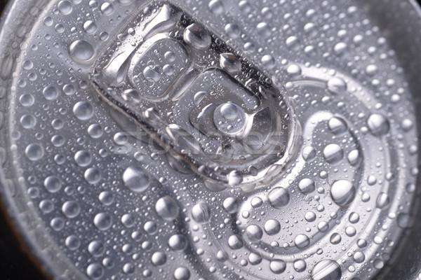 Umido alluminio può bere primo piano top Foto d'archivio © taden