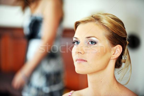 Studio ritratto bella donna faccia sposa Foto d'archivio © taden